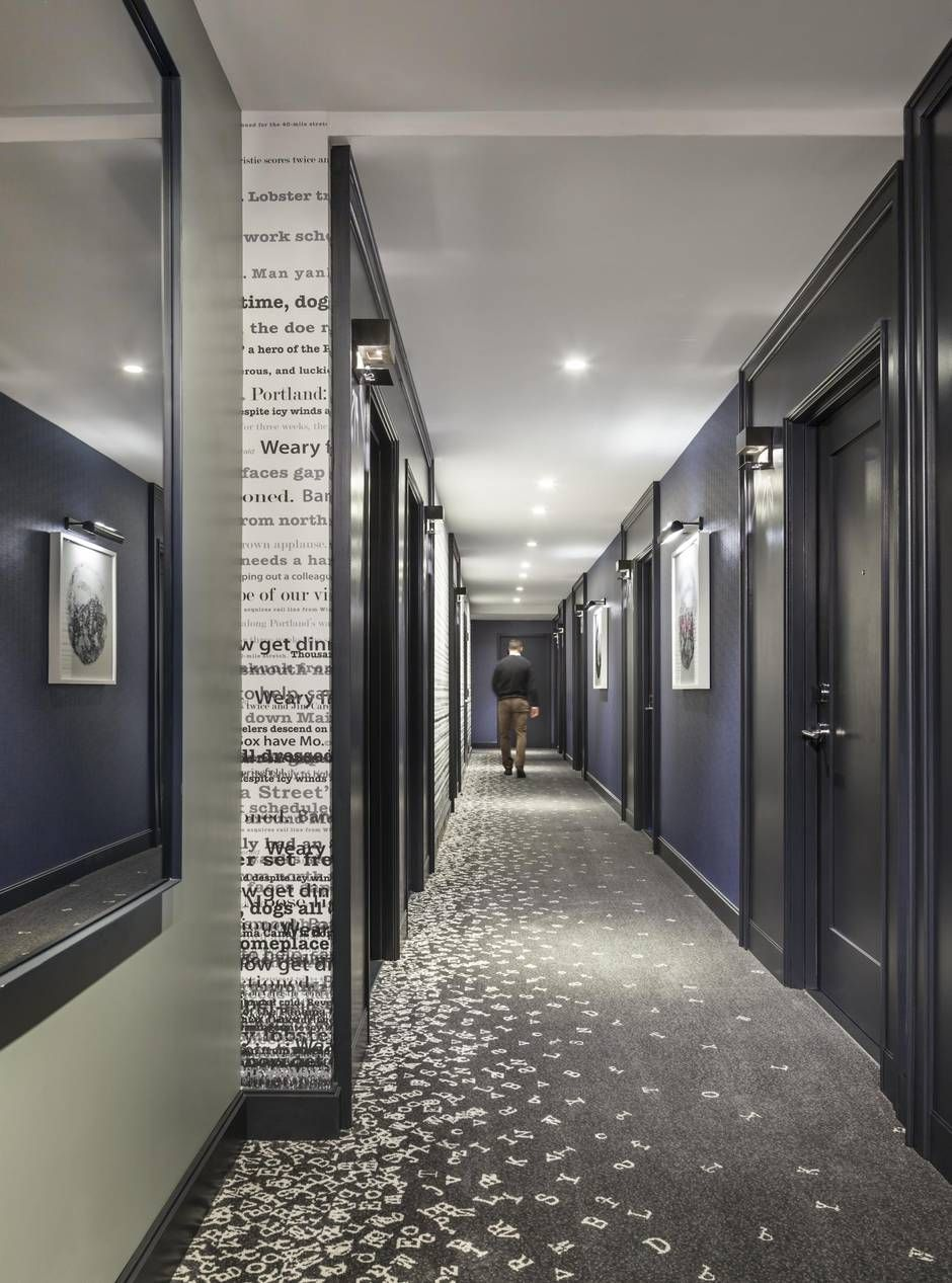 portland s press hotel honours the golden age of print hallway