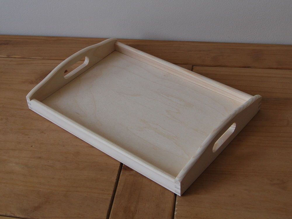 "Baltic Birch Rectangle Serving Tray W//Handles-12/""X10/""X2.88/"""