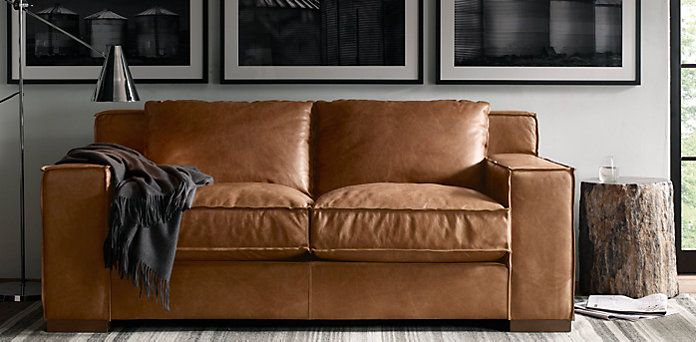 Capri Leather Sofa Restoration Hardware