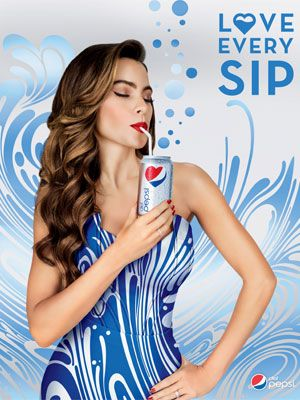 hair style posters sofia vergara pepsi endorsement ads ad 6704