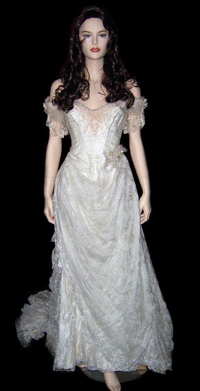 Christine costume on pinterest gowns love never dies for Phantom of the opera wedding dress