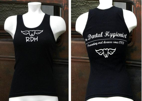 Black Dental Hygienist Tank Top On Etsy 1600