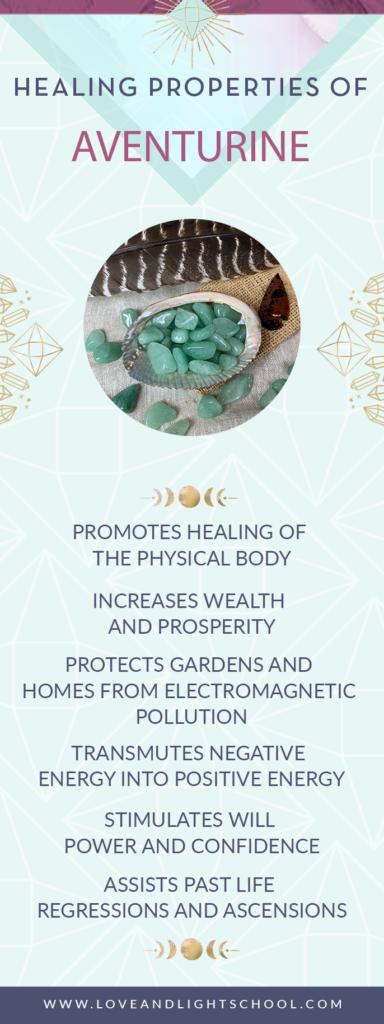 Healing Properties of Green Aventurine #crystalhealing