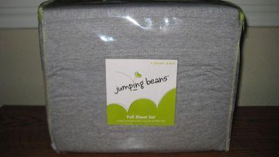 JUMPING BEANS TWIN SHEET SET GRAY T-SHIRT KNIT, NEW!!!
