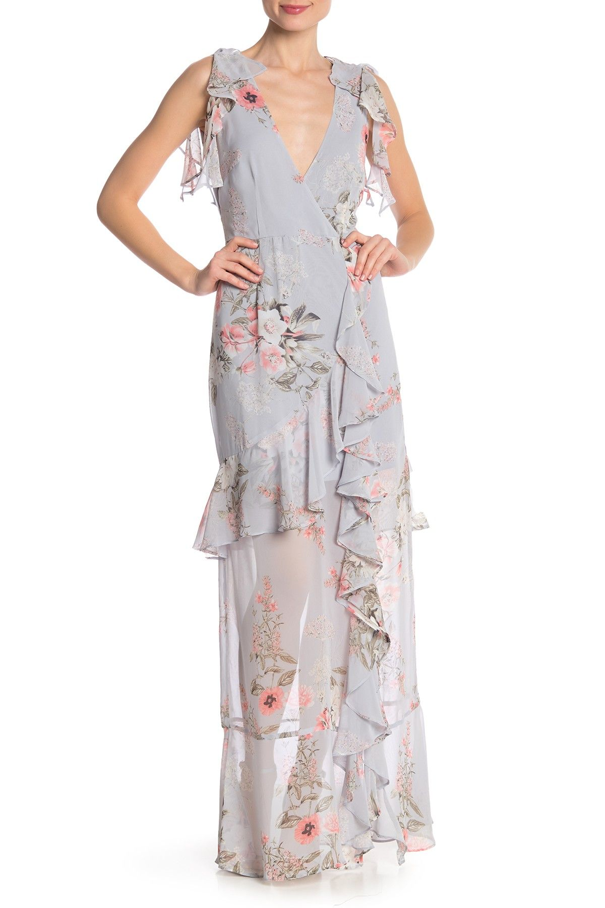 7430751a8e6 Floral Ruffle Maxi Dress by ONE ONE SIX on  nordstrom rack