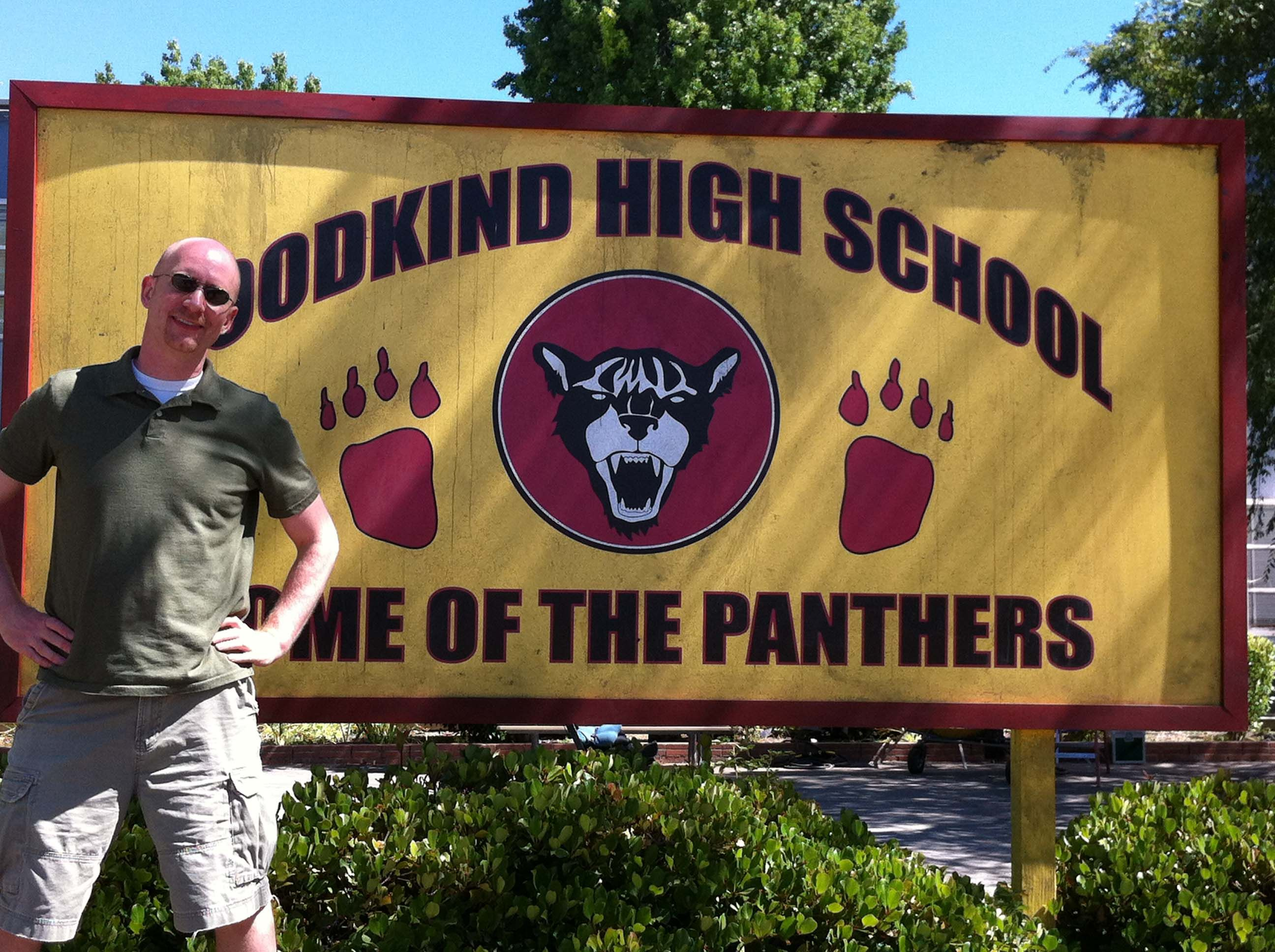 Here I Am Posing In Front Of The Robert G Goodkind High School