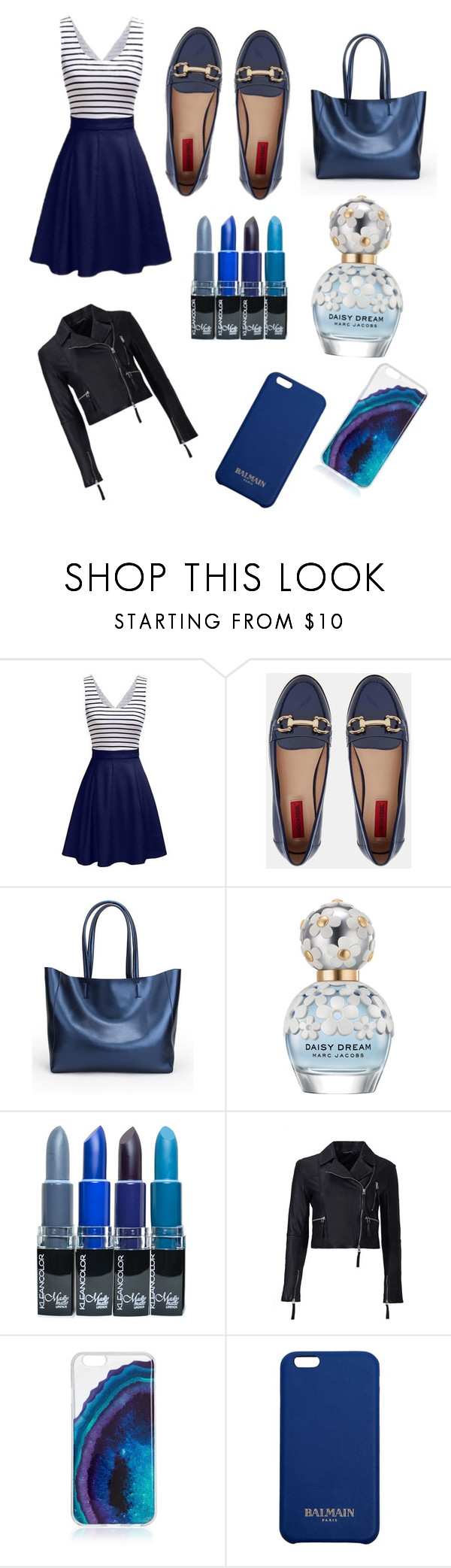 """blue summer"" by ellimae ❤ liked on Polyvore featuring London Rebel, Marc Jacobs, Marissa Webb and Balmain"
