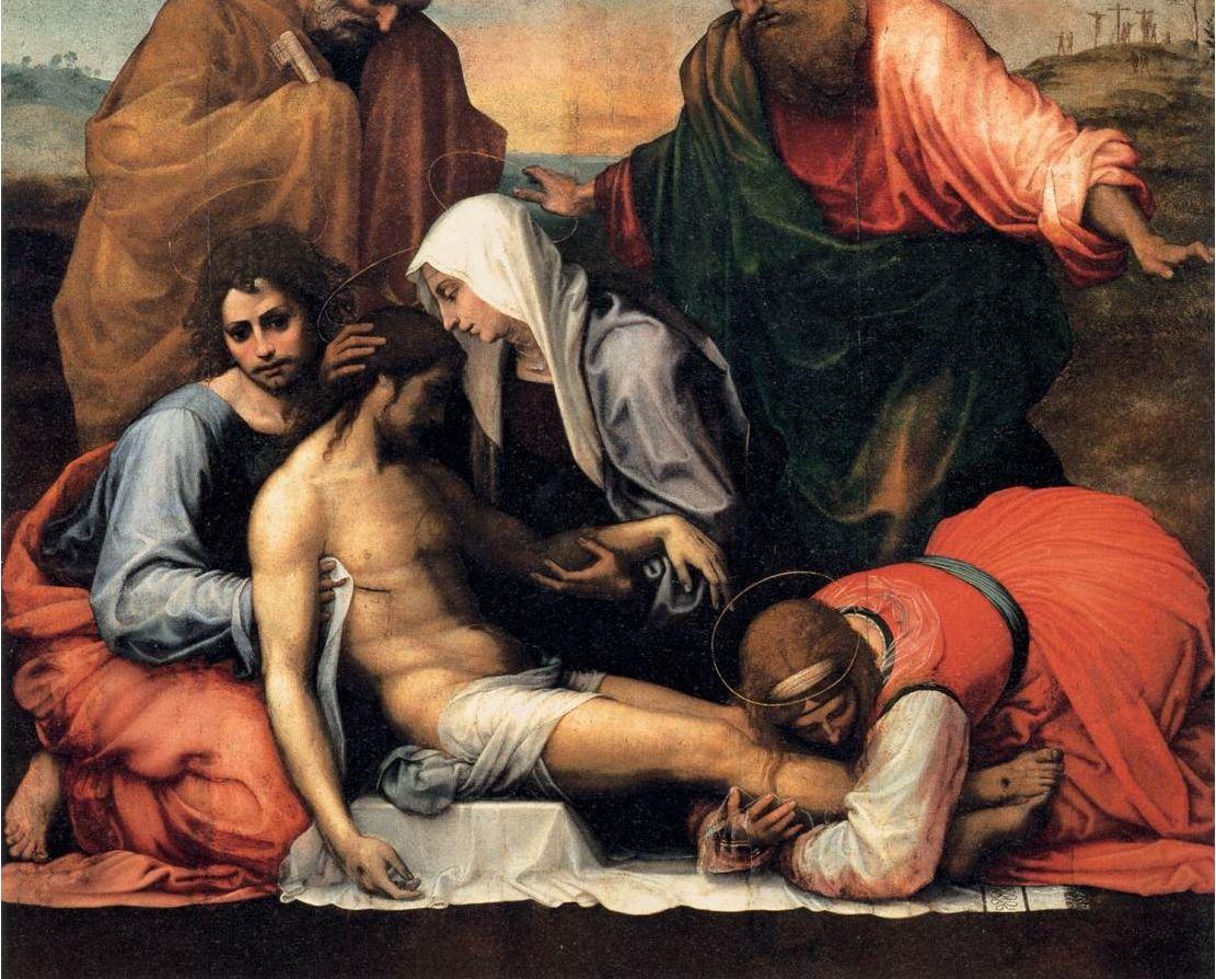 Fra' Bartolomeo - Compianto su Cristo morto -  1511-12 - Galleria Palatina, Musei di Palazzo Pitti, Firenze