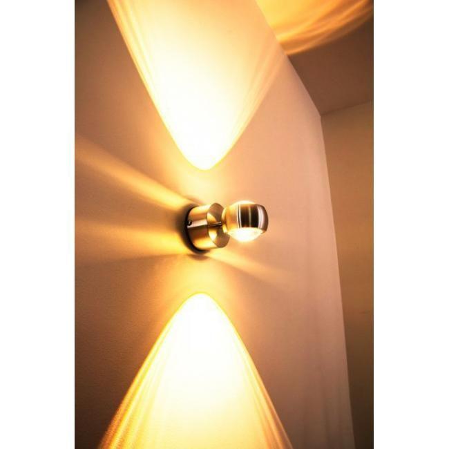 Florenz LED-Badleuchte, Aluminium gebürstet Da kein Spritzwasser