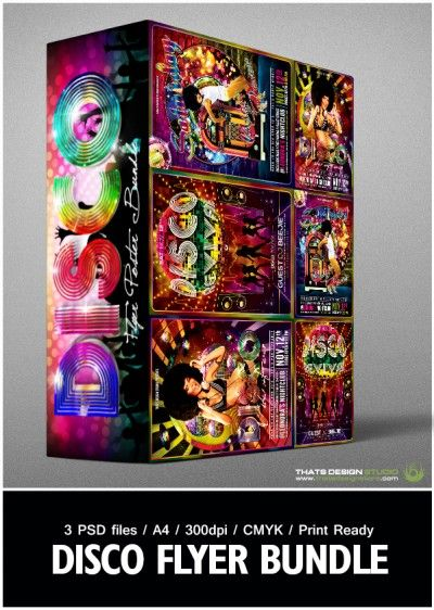 Disco Flyer Templates psd Designs for Photoshop V1 Thats Design