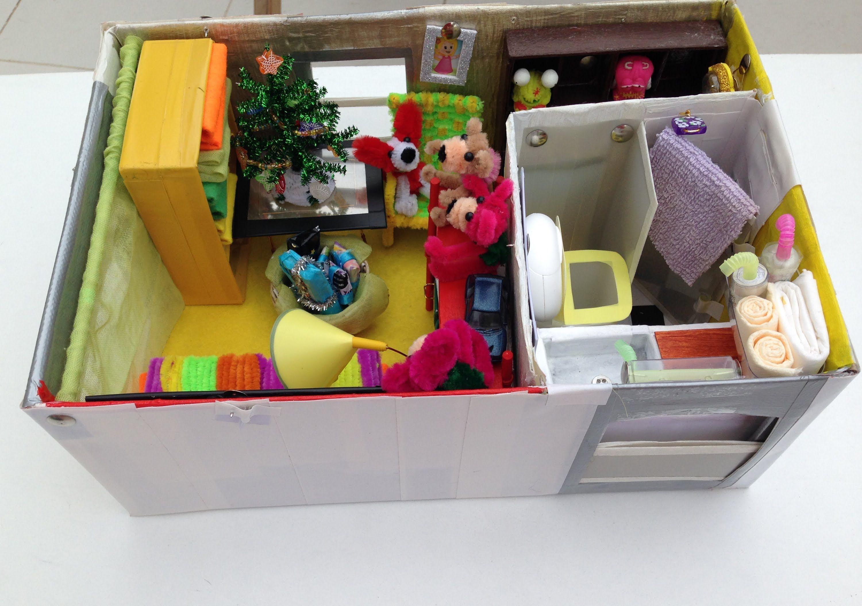 How To Make A Shoebox Dollhouse Doll House Shoe Box Diorama Kids