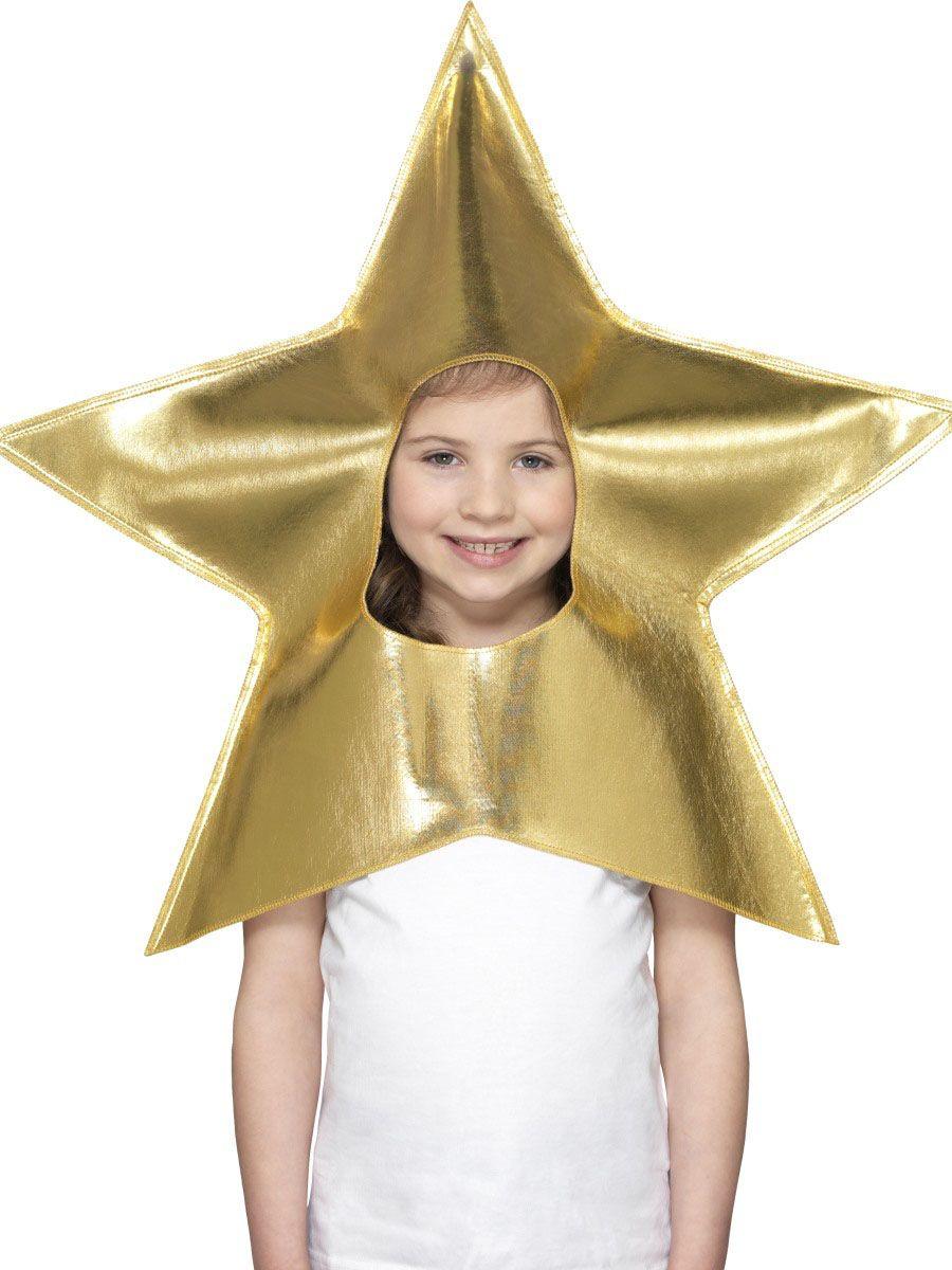 Sombrero de estrella dorada niño Navidad  995883e095f