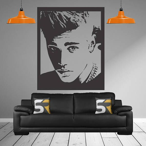 Justin Bieber Decal Girl Bedroom Wall Stickers Justin Bieber