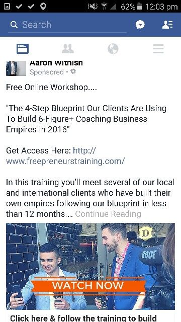 Pin by Ashleigh Ryan on Facebook Ad Examples Pinterest - copy business blueprint workshop