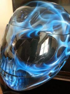 Custom Airbrushed Motorcycle Helmet Love Those Colors Found On
