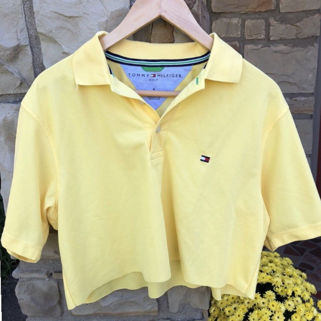 tommy hilfiger slight cropped polo shirt ~no flaws ~emma to - Depop e5a6e3f15