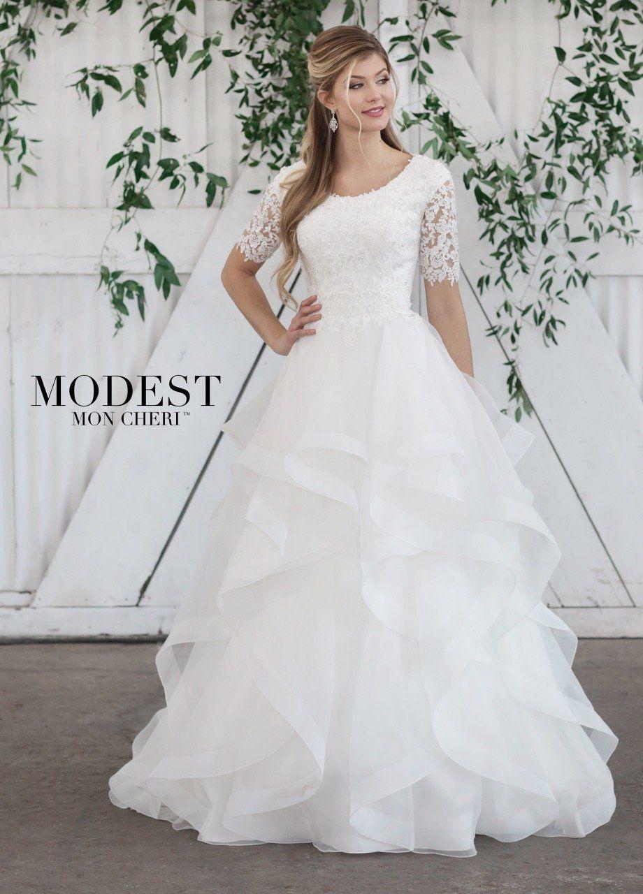 Mon Cheri TR21860 Modest Wedding Dress – A Closet Full of Dresses