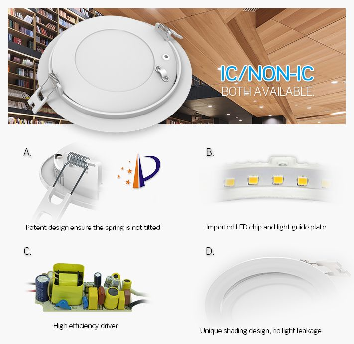 Liteharbor Ultra Thin Led Gimbal Recessed Panel Light Series For Insulated Ceiling Including The Junction Box And Driver Can Lights Led Panel Light Pot Lights