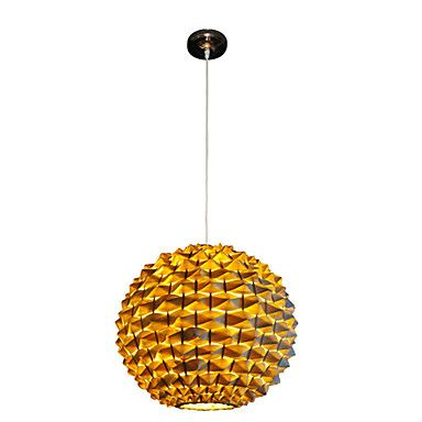 Golden Pendant Light with 1 Light in Ball Shape – US$ 129.99