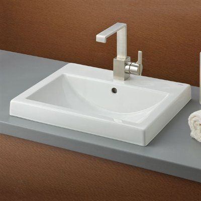 Cheviot Camilla Semi Recessed Bathroom Sink White Drop In