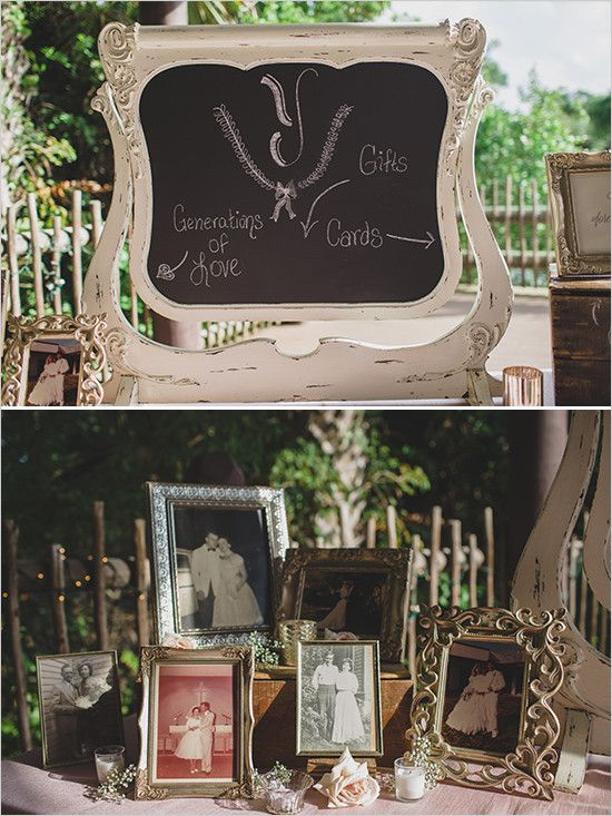 gifts and generations of love table @weddingchicks