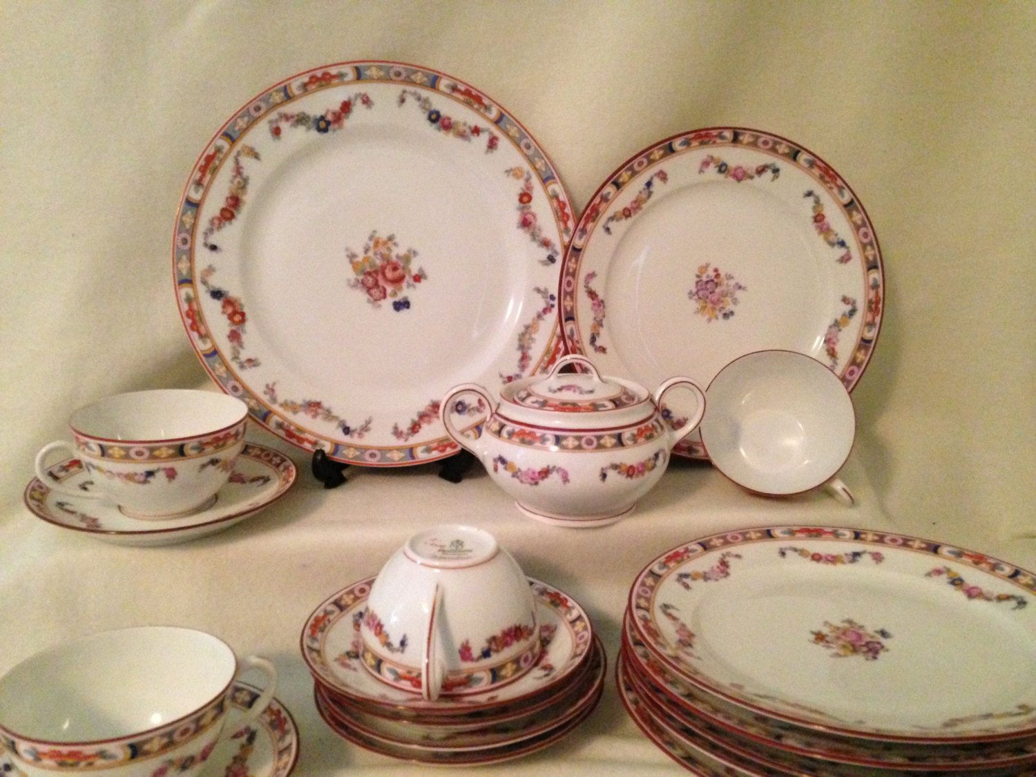 Fraureuth \  Standish \  Floral Swag - Luncheon - dinnerware set for 4- RARE China Replacements & Fraureuth \