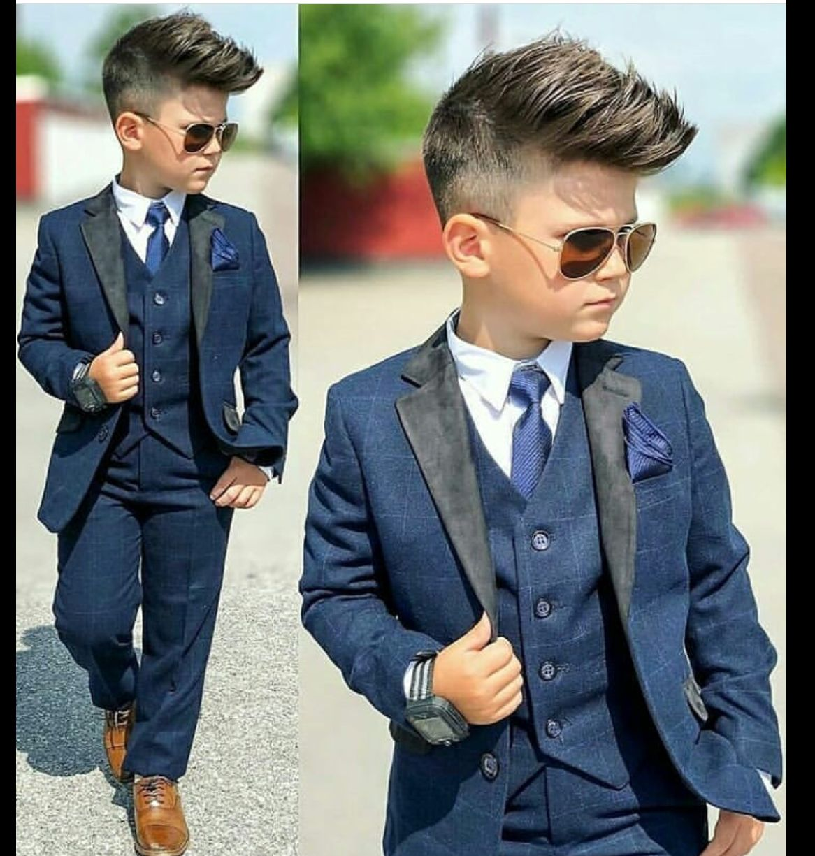 Kids with swag  Boys wedding suits, Boys dress, Boy outfits