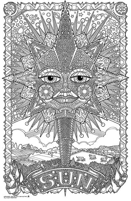 Doodlenation Giant Colouring In Poster Sun Sun Coloring Pages Abstract Coloring Pages Coloring Pages