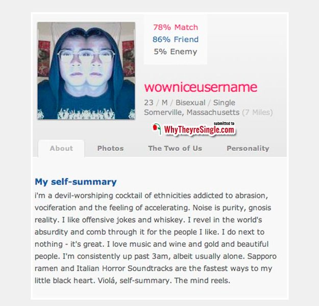 Funny Dating Profiles - CollegeHumor Post