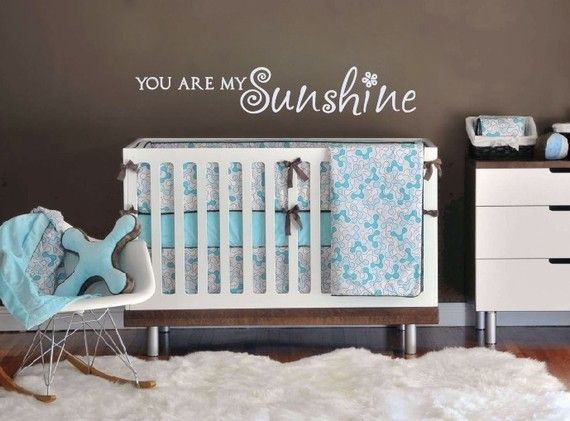 """Super cute wall vinyl- """"You are my sunshine""""  Lots of others to choose from too!"""