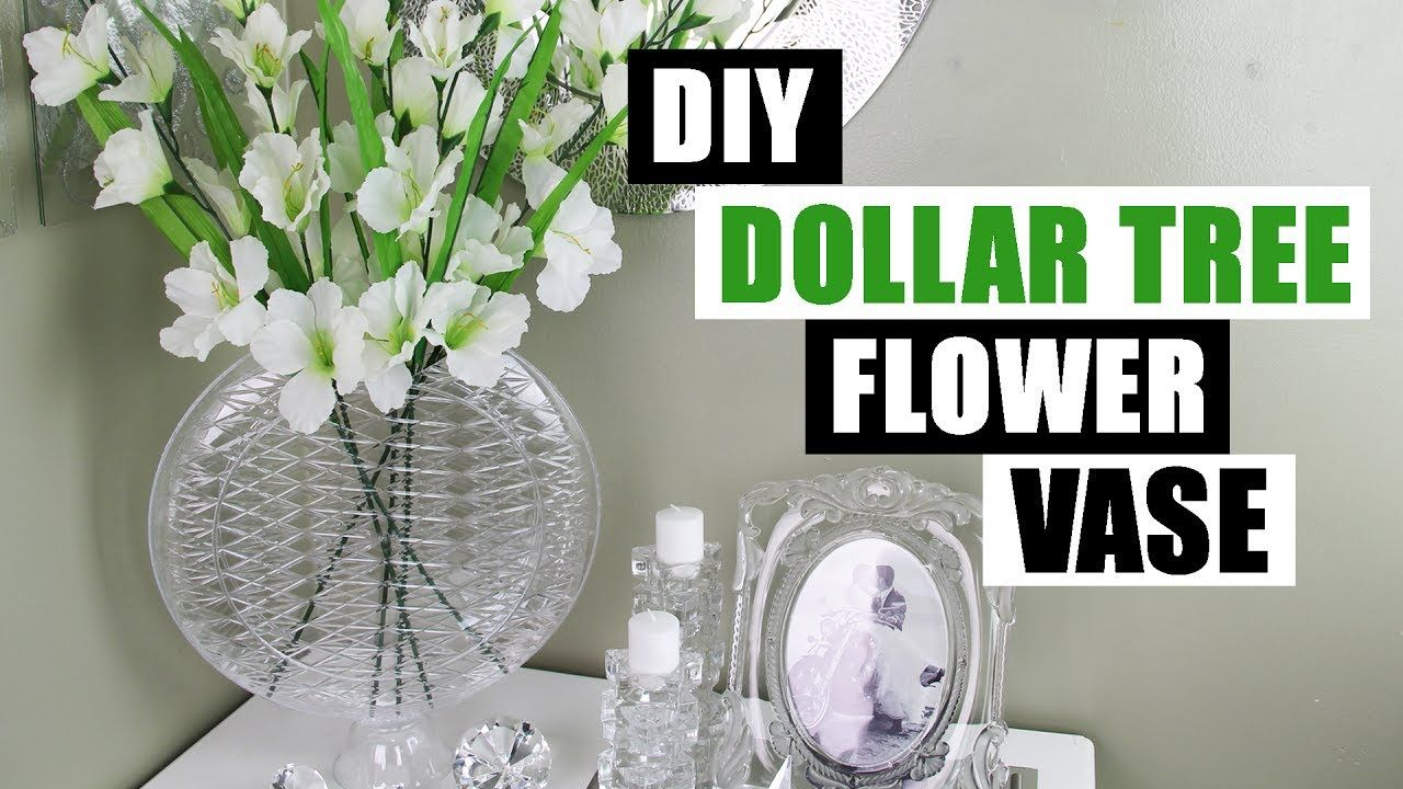 Diy dollar tree glam vase dollar store diy glam flower for Bathroom decor dollar tree