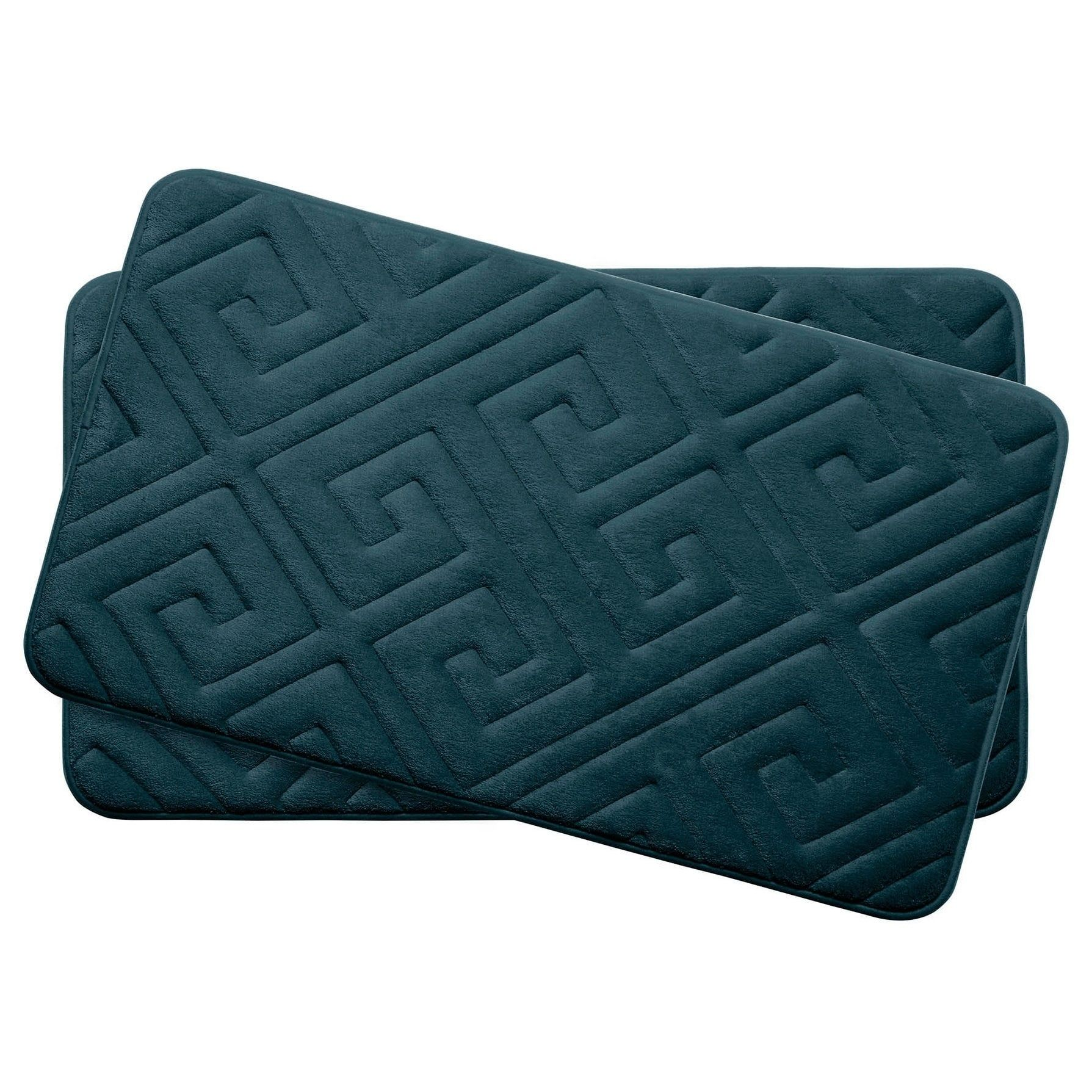 Caicos Memory Foam 17 In X 24 In 2 Piece Bath Mat Set W