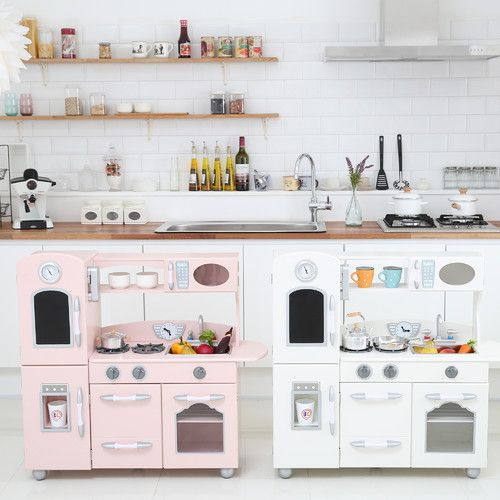 Wooden Play Kitchen Set in 2019 | igracke | Wooden play ...