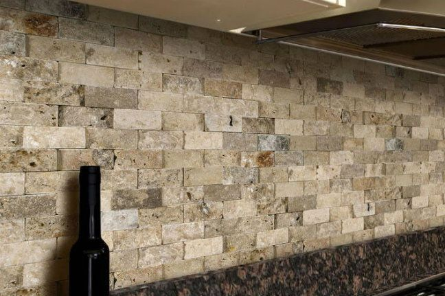 Scabos split face stone 2quotx4quot 1195 s f tile stores for Split face travertine kitchen backsplash
