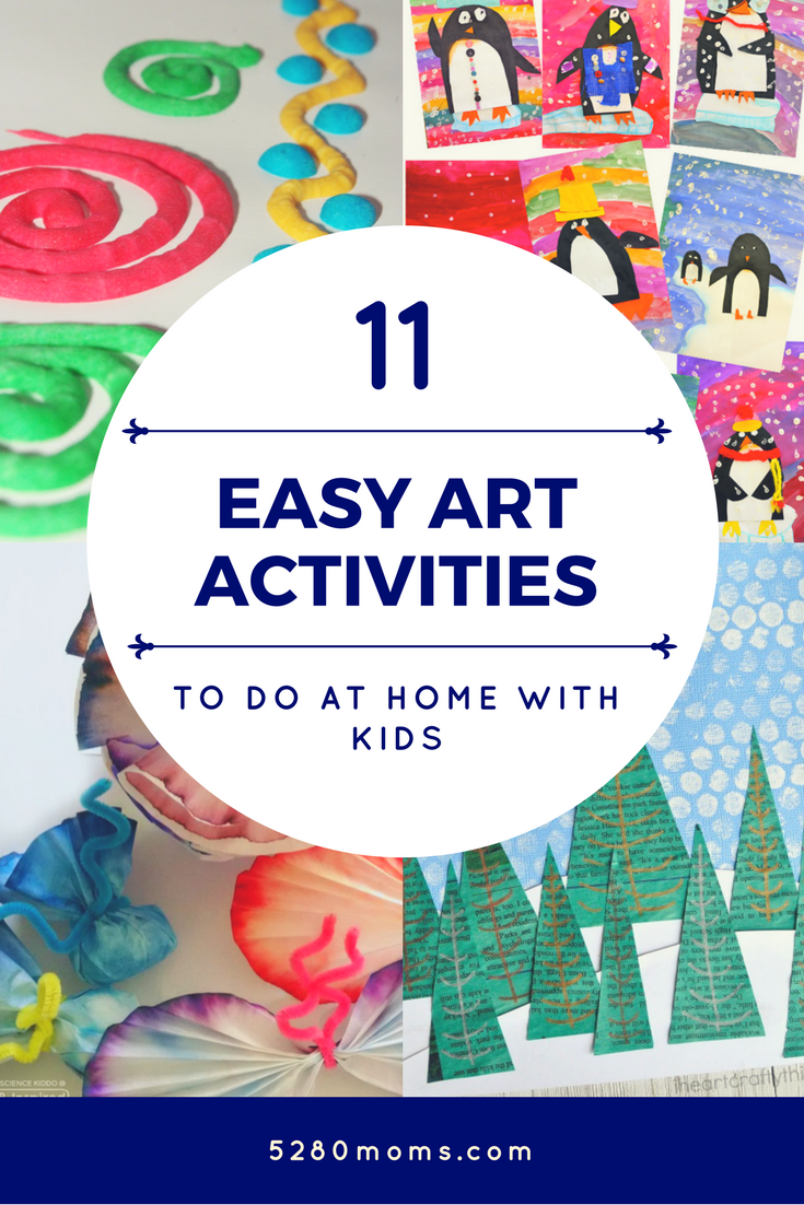11 easy art activities to do at home with kids | Art & Craft Ideas ...