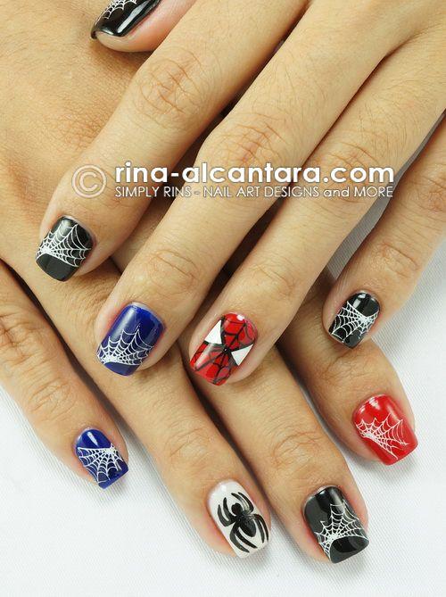 Spiderman Nails | unad | Pinterest | El vestidor, Hombre araña y ...
