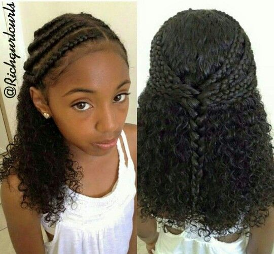 Cute Natural Style In 2020 Natural Hair Styles Kids Hairstyles Medium Length Hair Styles