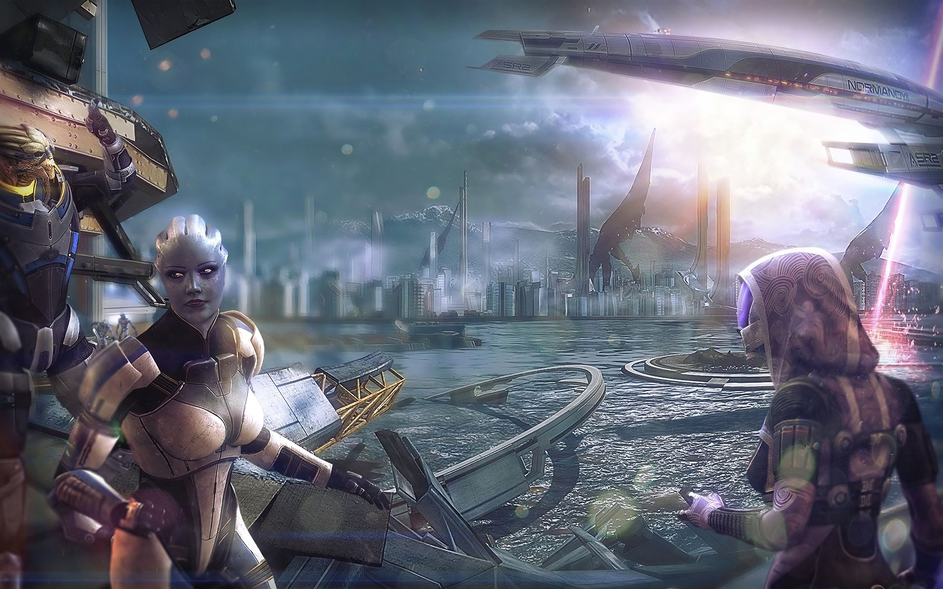 Video Game Mass Effect Liara T'Soni Garrus Vakarian Tali