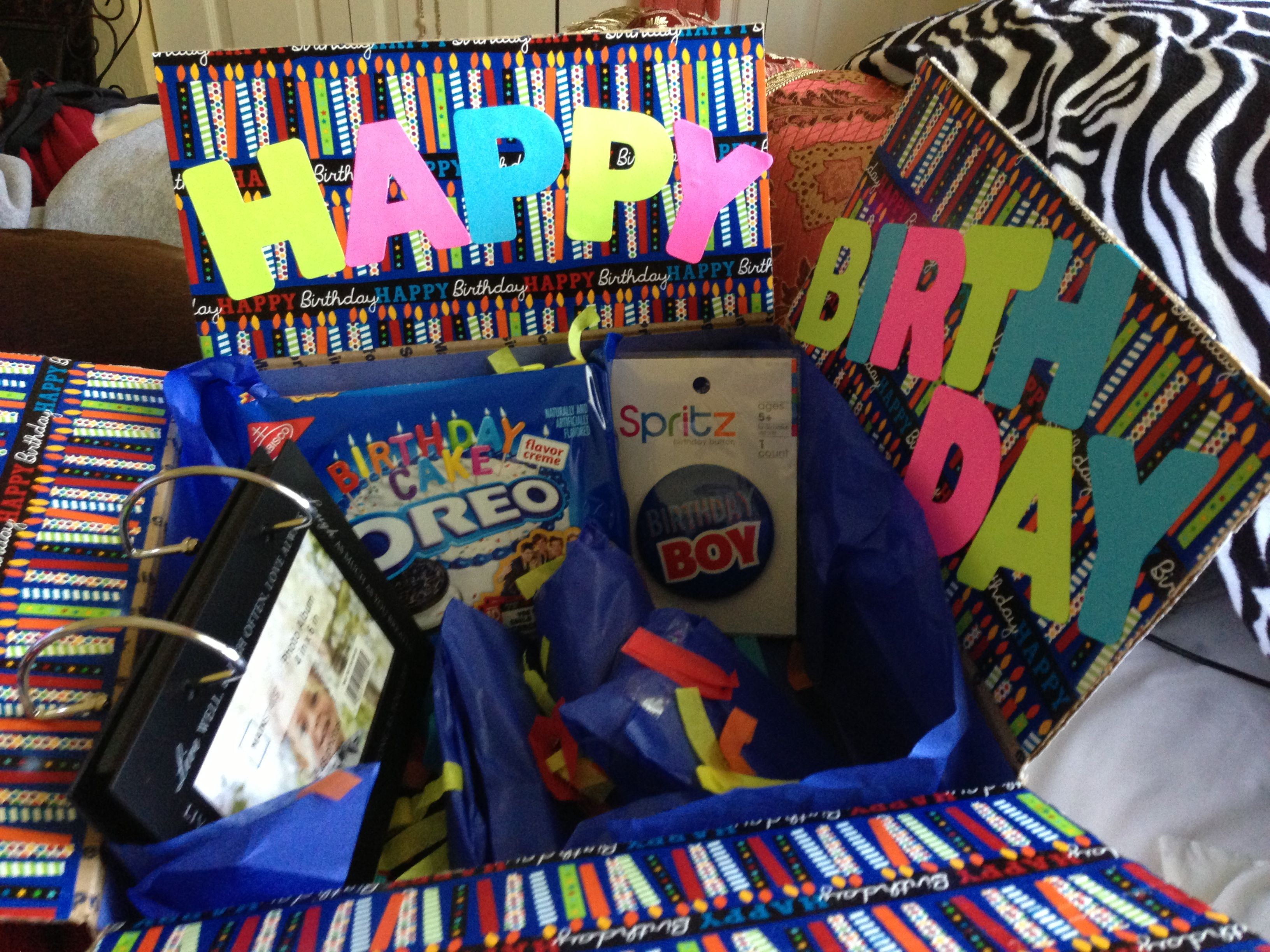 Birthday care package to boyfriend away in the navy DIY Crafts