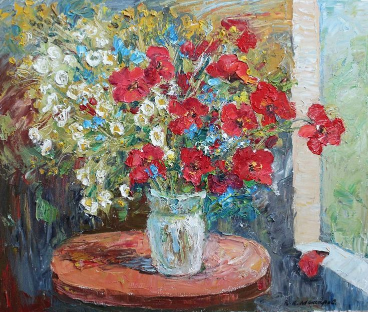 Buy Poppies are my favorite. 60 * 50 cm, canvas, oil, 2016., Oil painting by Viktor Makarov on Artfinder. Discover thousands of other original paintings, prints, sculptures and photography from independent artists.