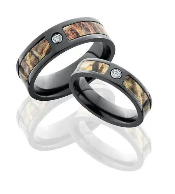 camo wedding bands for him and her - Pink Camo Wedding Rings For Her