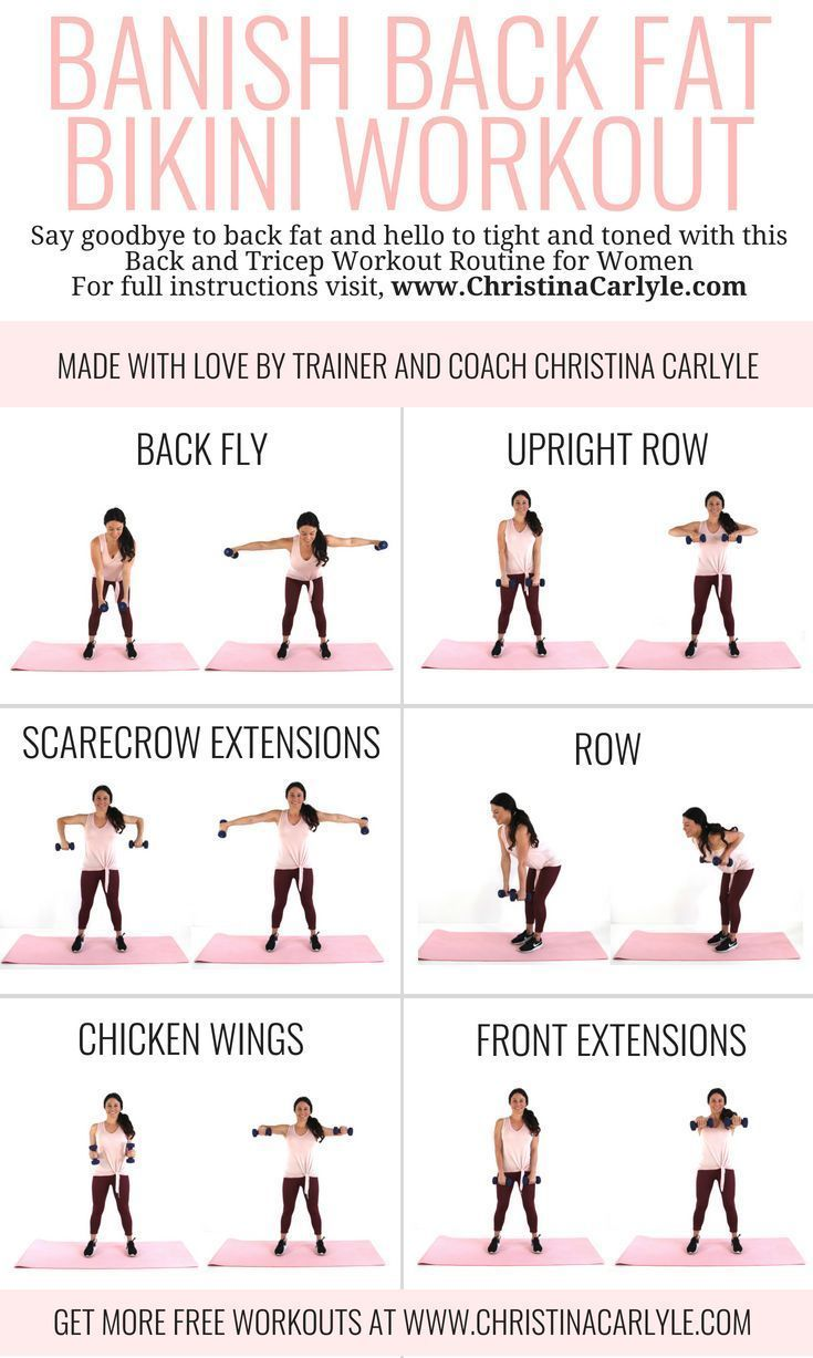 Banish Your Back Fat with this Quick Back Workout for Women