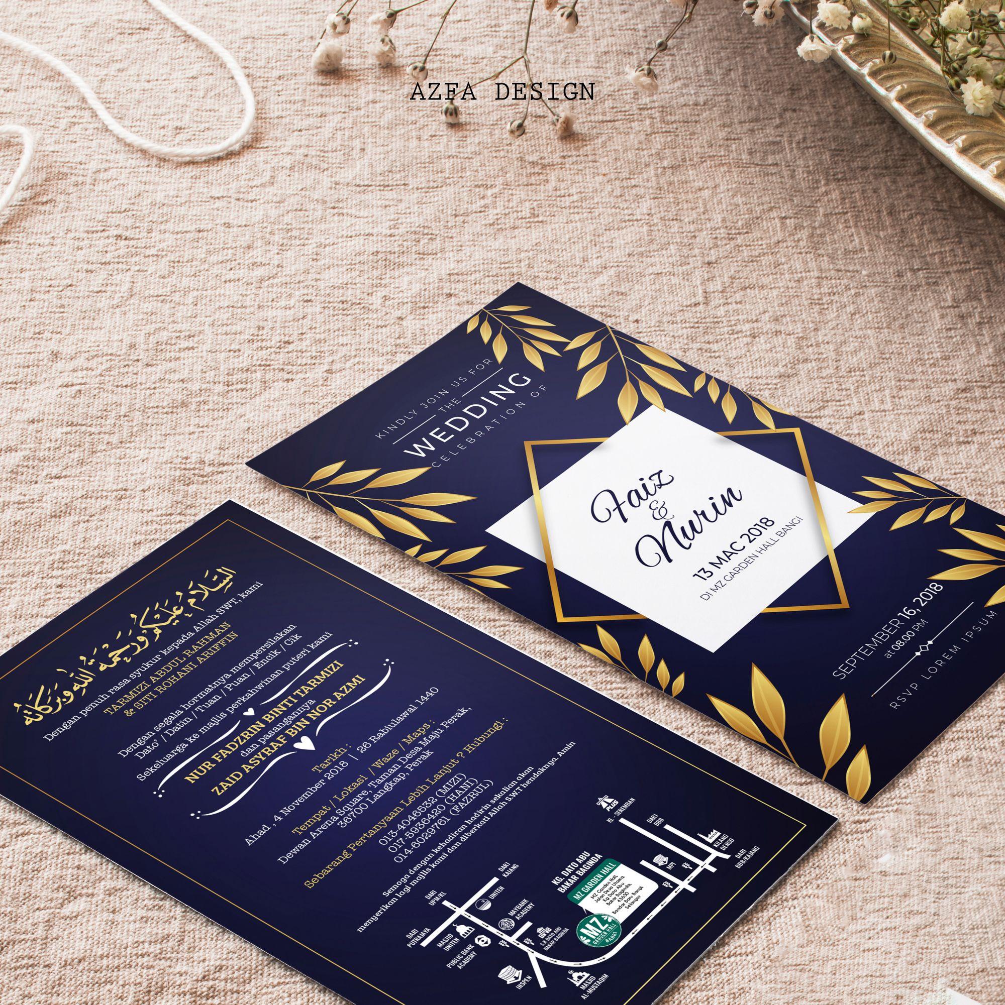Azfadesign Kadkahwin Customize Kad Kahwin Anda Azfa Design Sedia Membantu Eh Takna Invitation Cards Invitations Cards