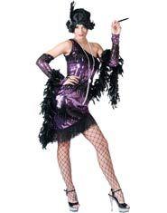 Purple Jazzy Flapper Costume $65.17