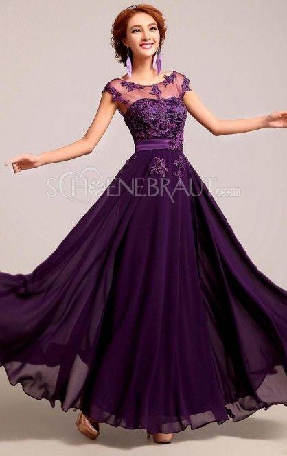 Damen lange elegante kurzärmelige Abendkleider Cocktailkleider mit ...