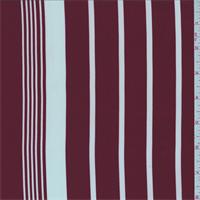 Brick Red/White Stripe Triple Georgette