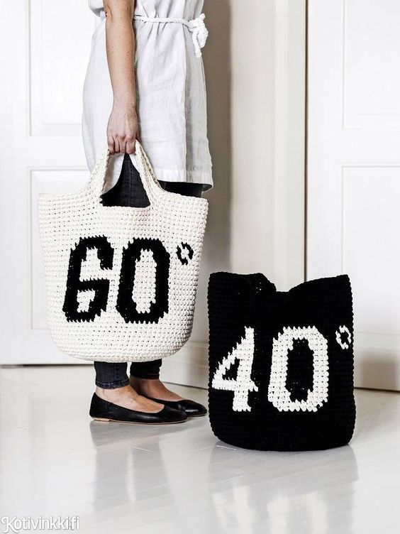 Fabulous laundry bags!Free pattern/tutorial (in Finnish only, but google translate will help)