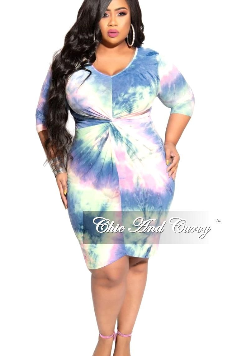 New Plus Size Bodycon Dress With Twisted Waistline In Rainbow Print Chic And Curvy Bodycon Dress Plus Size Bodycon Plus Size Bodycon Dresses [ 1144 x 745 Pixel ]