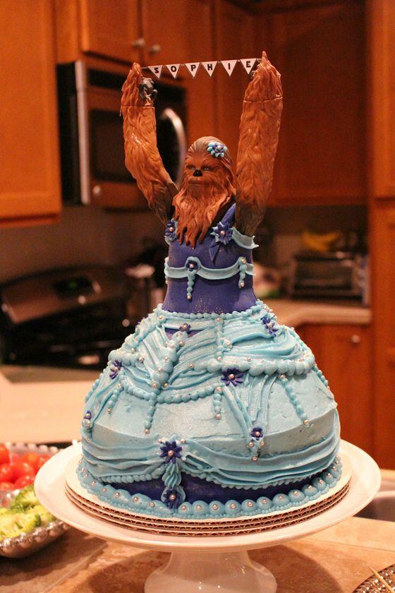 un gâteau star wars chewioù le gâteau barbie revisité | gâteaux