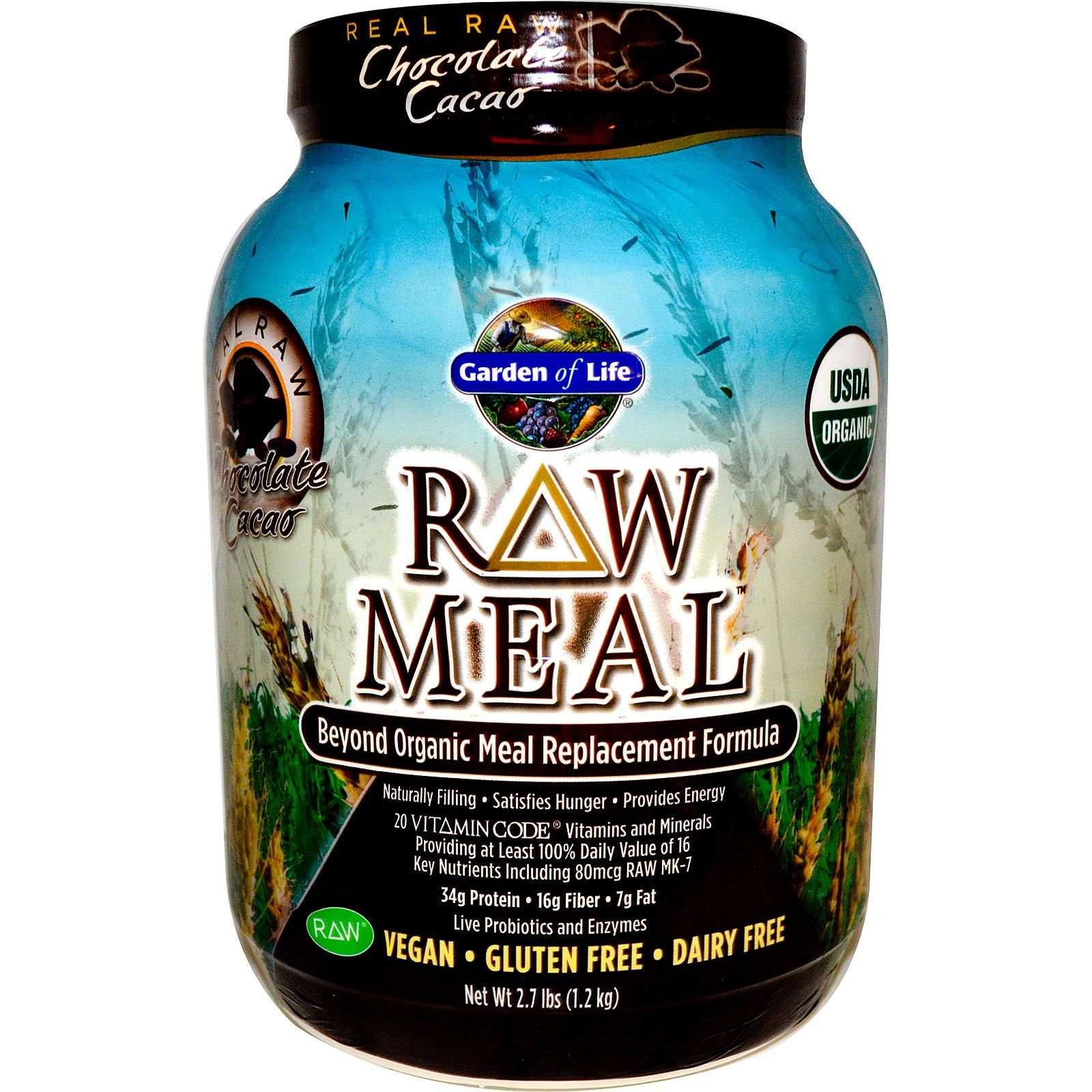 Garden of life organic raw meal chocolate 27 lb
